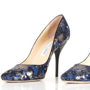 Jimmy Choo Blue & Lace Pumps